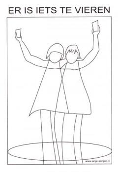 Kleurplaten Voor Volwassenen Pdf.Kleurplaat Er Is Iets Te Vieren Pdf Anja Van Rijen